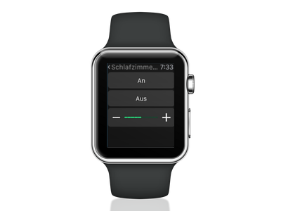 Apple Watch showing LoxHomeControl